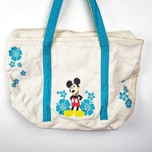 The Disney Store | Mickey Minnie Beach Canvas Tote